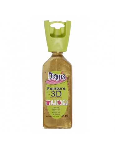 Peinture DIAM'S 3D nacrée or antique