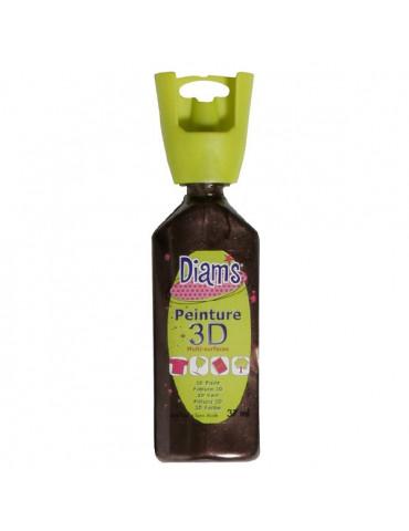 Peinture DIAM'S 3D nacrée chocolat
