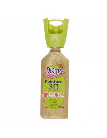 Peinture DIAM'S 3D nacrée Sable d'or
