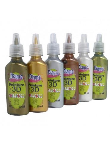 Mini DIAM'S 3D - 6 couleurs métallisées