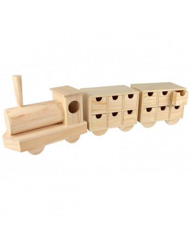 Calendrier de l'avent - Train en bois 50cm