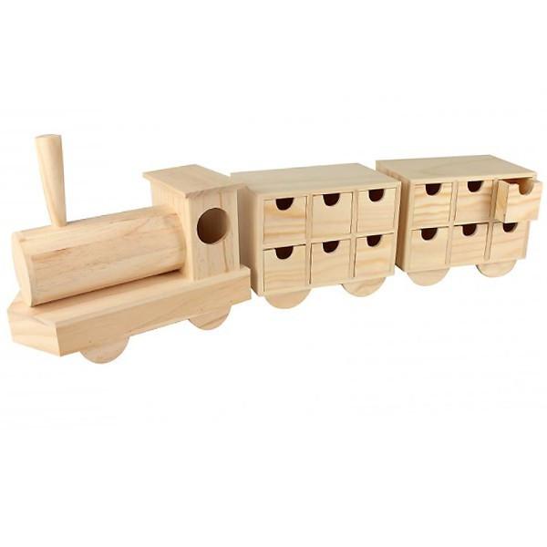 Calendrier De Lavent Cm.Calendrier De L Avent Train En Bois 50 X9x18 Cm Support A Decorer