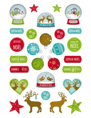 Stickers transfert - Boules à neige