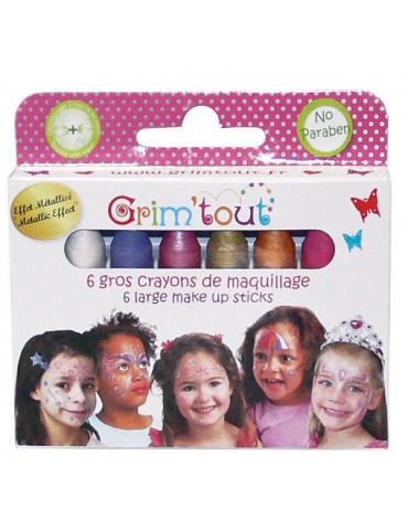 Crayons maquillage Jumbo Grim'tout - Princesse x6