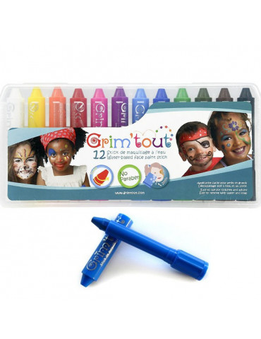 Boite 12 crayons Grim'Sticks - Grim'tout