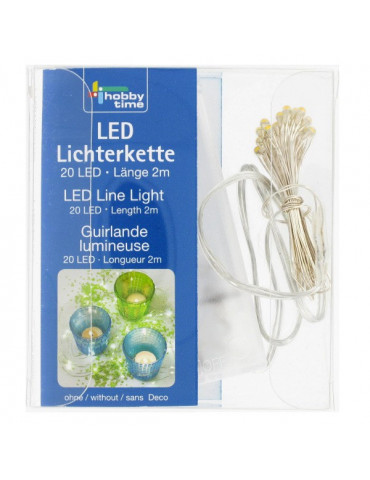 Guirlande lumineuse 20 LED avec interrupteur - 2m