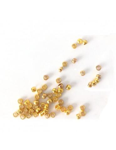 Perles à écraser Or - 2mm x60