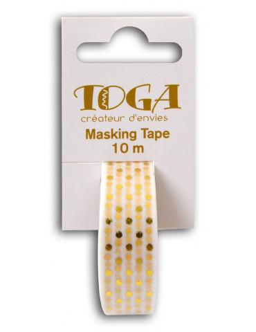 Masking tape - Blanc à pois...