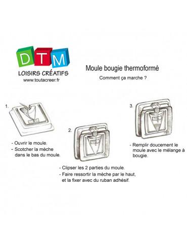 Moule bougie rigide - Cylindre 8cm