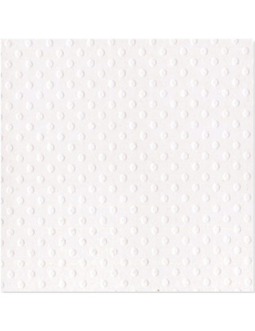 Bazzill Basics Paper - Dotted Salt (Blanc) x25
