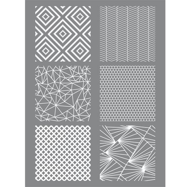 Silkscreen - Pochoir pour pâte polymère Géométrique - Graine Créative