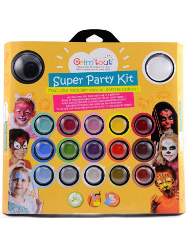 Kit maquillage GRIM'TOUT Super Party - 17 couleurs