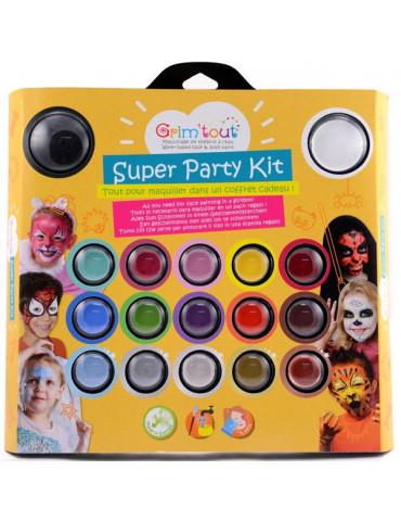 Kit maquillage GRIM'TOUT Super Party - 17 couleurs