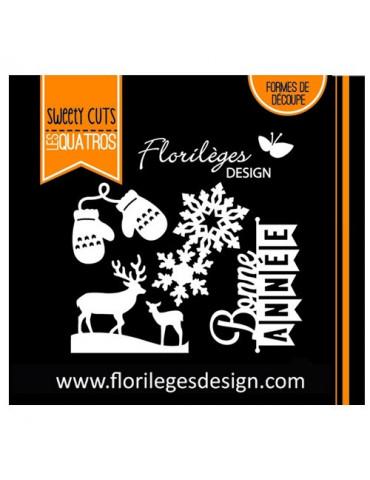 Dies Sweety Cuts - Bonne année - Florilèges Design