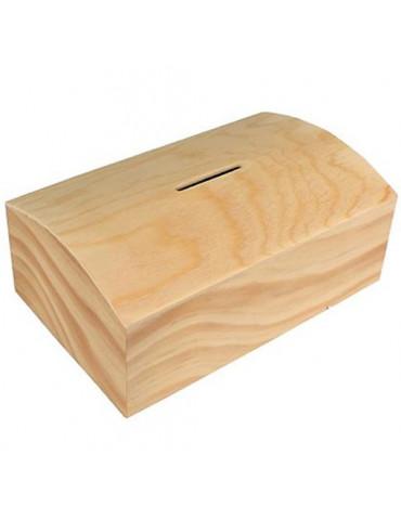 Tirelire coffre bois - 13,5x8,5 cm