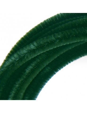 Fil chenille Vert 8mm -...