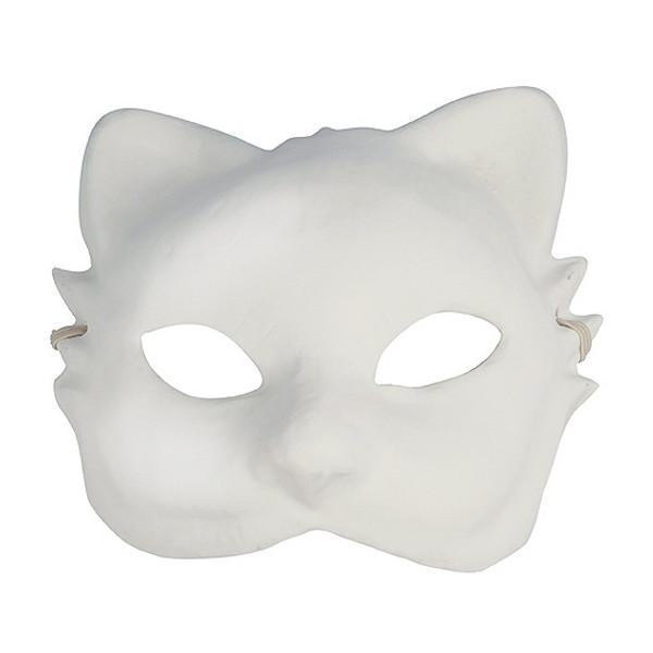 Masque Chat enfant - Finition plâtre