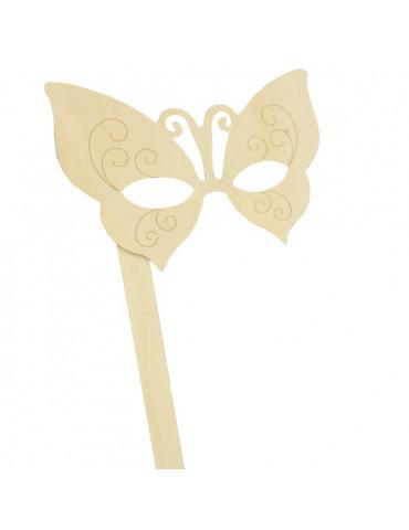 Masque papillon en bois