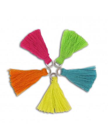 Pompons coton 2,5cm - Caraïbes - 5 pièces