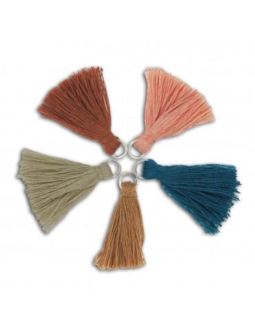 Pompons coton 2,5cm - Earth - 5 pièces