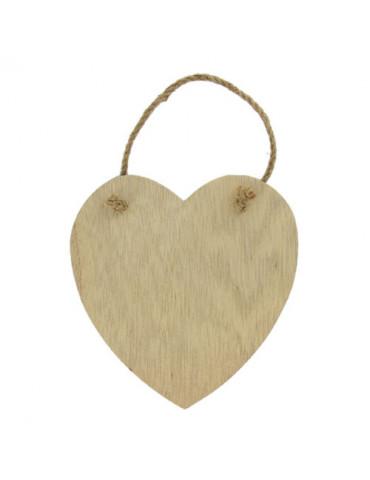 Plaque coeur bois à décorer...