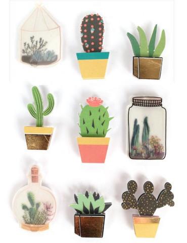 Stickers 3D Cactus - 9...
