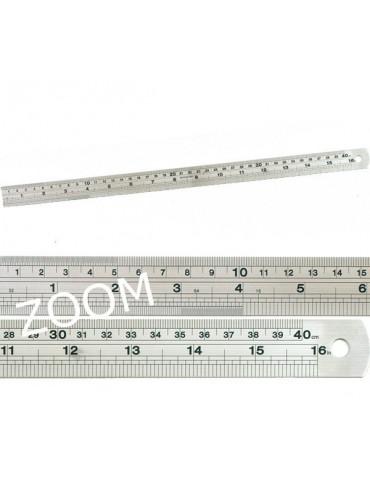 Règle en acier inoxydable - 40cm
