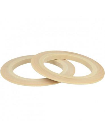 Bracelet bois plat 15mm - 2 pcs -  Lucy By Artemio