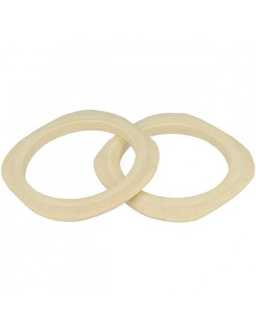 bracelet plat carré en bois 3mm - 2 pcs -  Lucy By Artemio