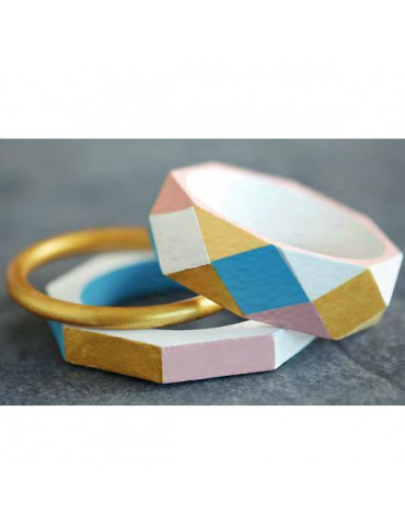 Bracelet bois anneau 8mm - 2 pcs -  Lucy By Artemio