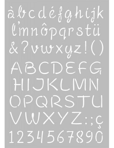 Pochoir Alphabet - Majuscules / Minuscules - 21x29,7cm - Artemio