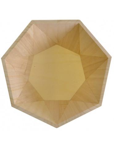 Plat géométrique en bois -...