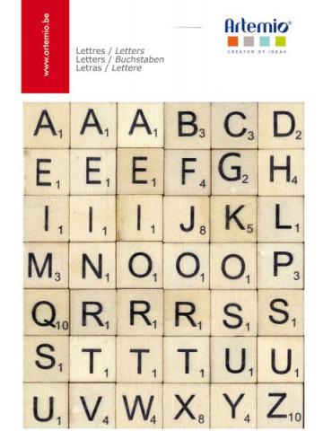Lettres en bois Scrabble - 2cm
