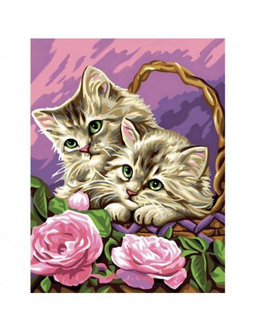 Peinture numéro - Les chatons rêveurs
