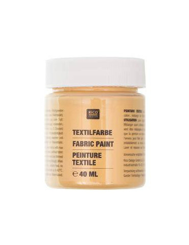 Peinture textile Or - 40ml - Rico Design