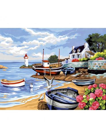 Peinture numéro - Rivage Breton