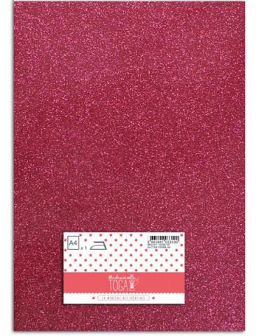 Flex glitter - Tissu thermocollant Rose vif - Mlle Toga