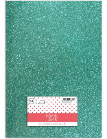 Flex glitter - Tissu thermocollant Vert Jade - Mlle Toga