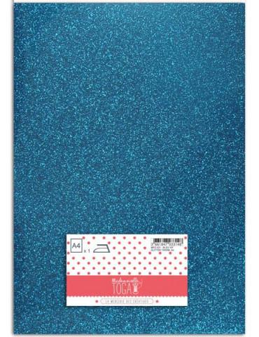 Flex glitter - Tissu thermocollant Bleu vif - Mlle Toga