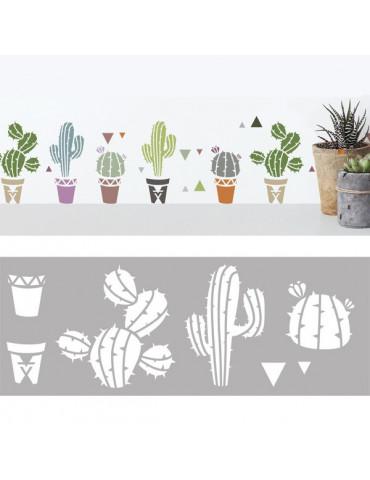 Pochoir déco - Cactus -...