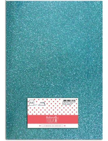 Flex glitter - Tissu thermocollant Bleu givré - Mlle Toga