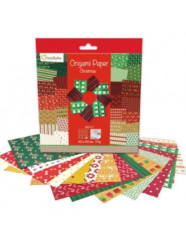 Papier origami Noël 20x20 -...