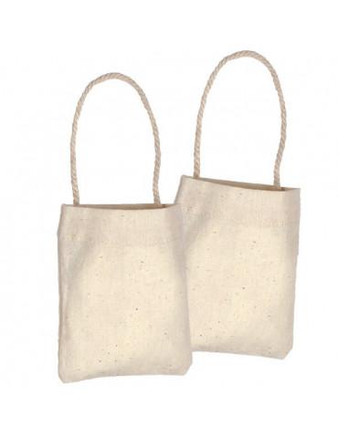 Mini sac en coton naturel x24 - 10,5x8,5cm