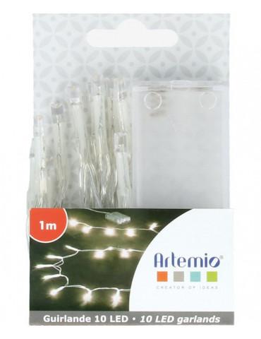 Guirlande lumineuse LED -10 ampoules - 1m