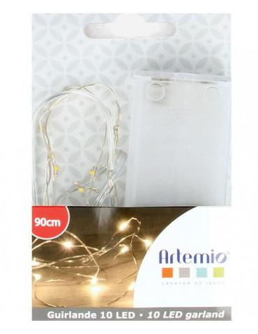 Guirlande lumineuse fil cuivre - 10 ampoules LED - 90 cm