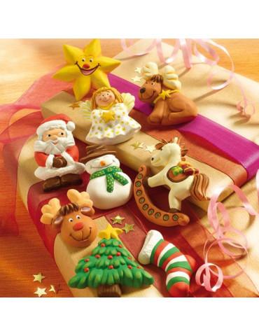 Moule pour FIMO - Sujets Noel