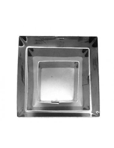 Emporte-pièces métal Carré x3