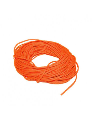 Cordon en coton orange 1mm x5m