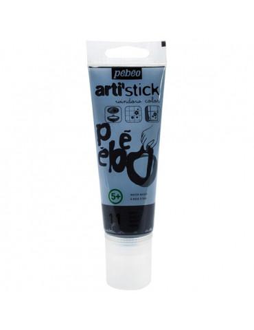 Peinture repostionnable - Arti'stick Noir - 75 ml - Pébéo