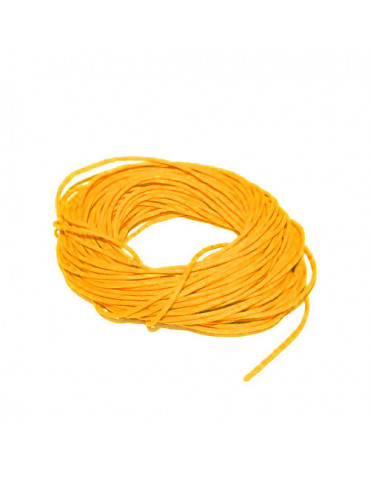 Cordon en coton jaune 1mm x5m